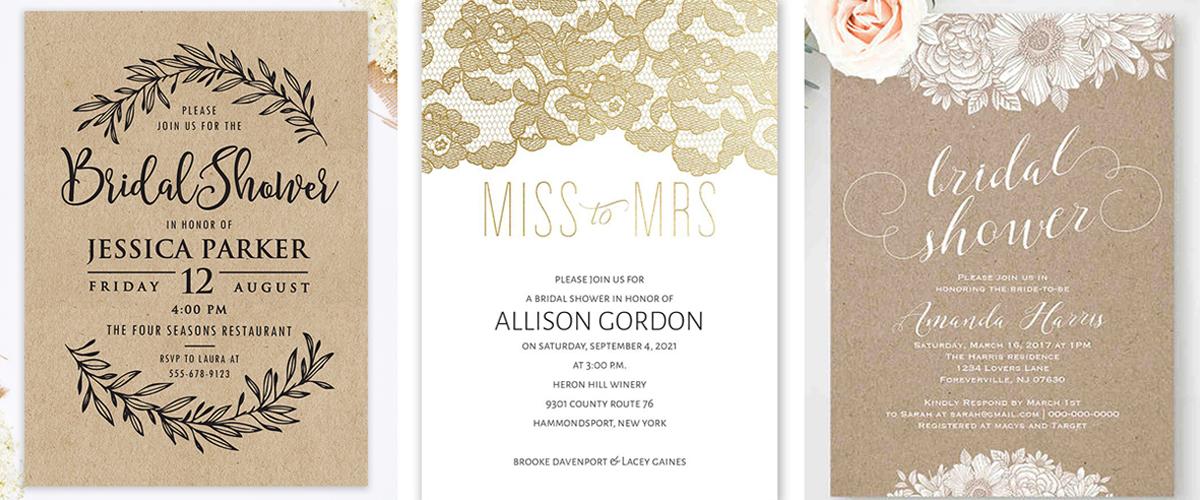 Inviti per il Bridal Shower