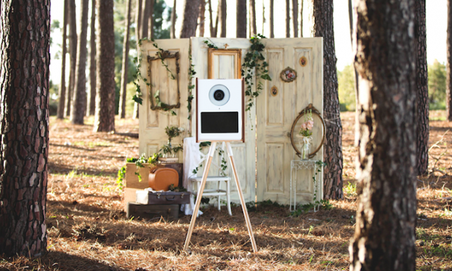 Photo booth all'aperto vintage