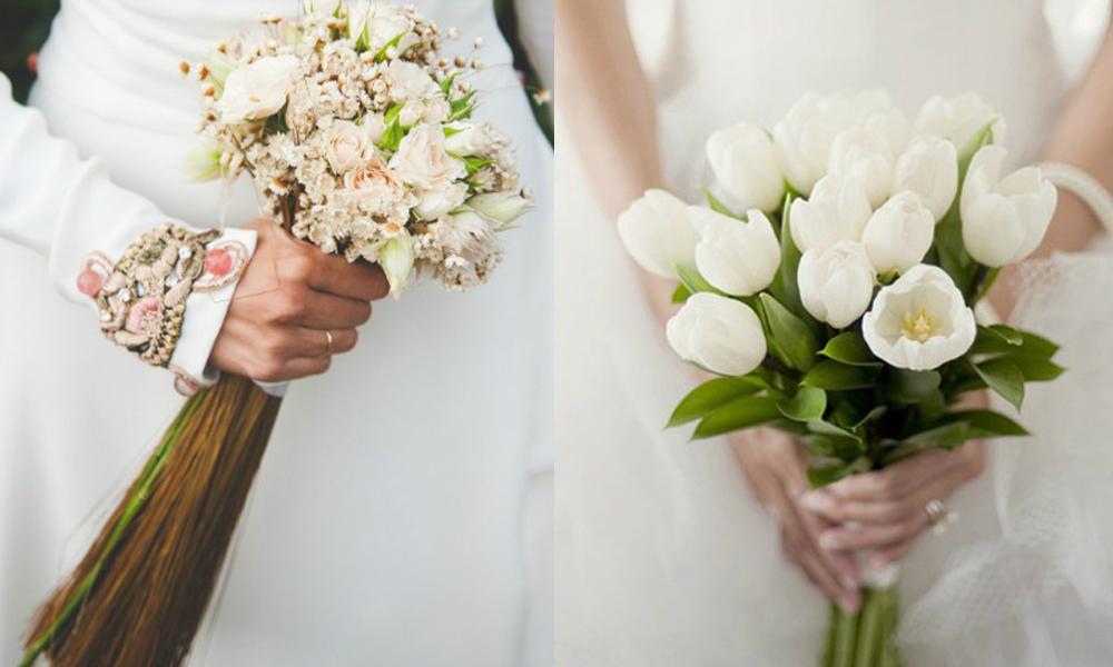 Mazzo di fiori a fascio