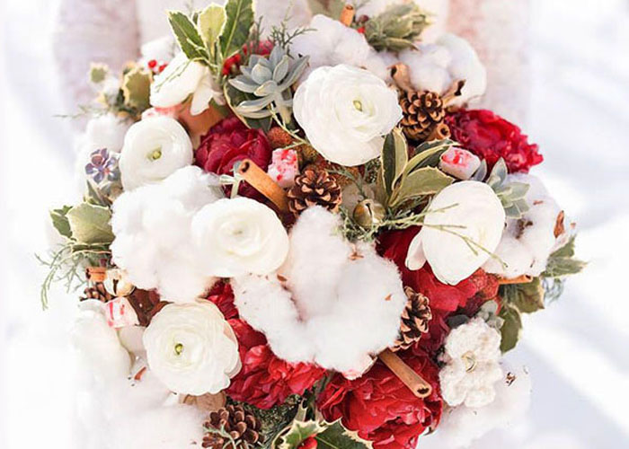 Fiori di cotone: ottima idea per un bouquet invernale