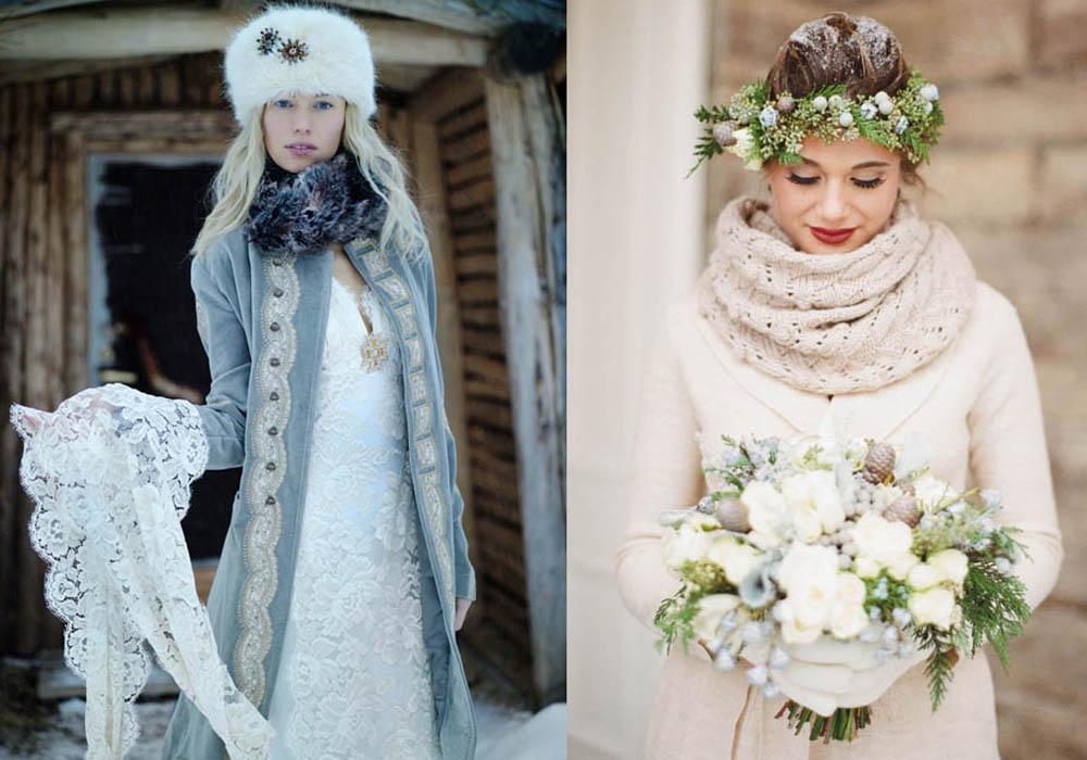 La sposa inverno: vasta gamma di accessori