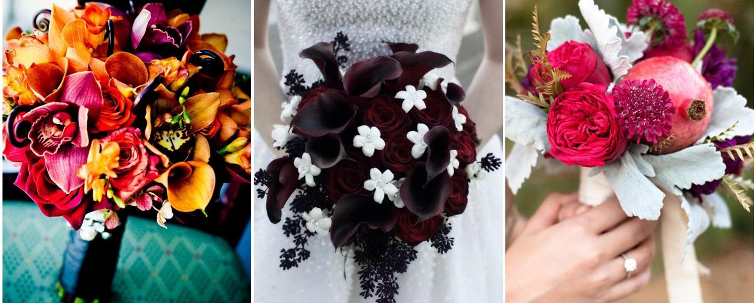 I colori e i fiori per un bouquet in perfetto stile Halloween