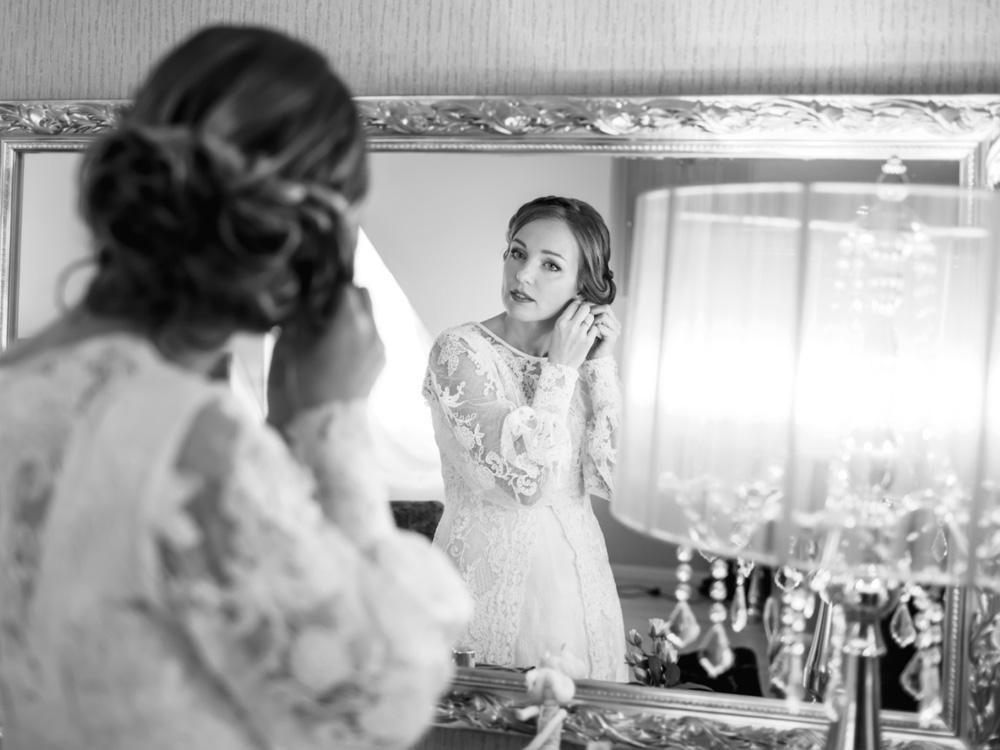Sposa che si prepara