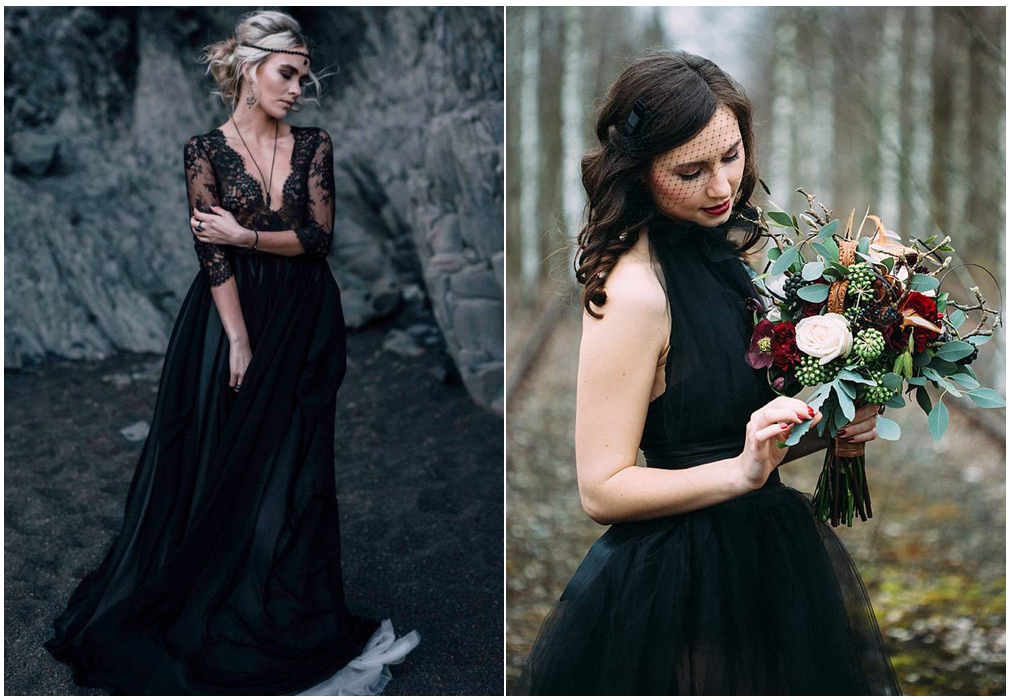Sposa in total black
