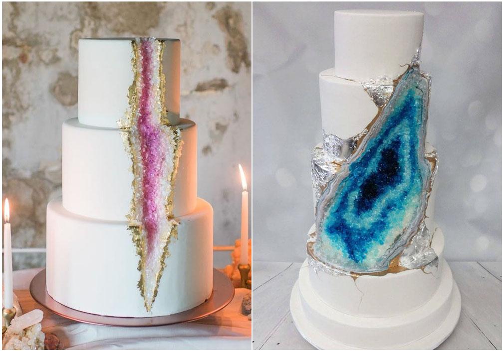 I minerali della geode cake