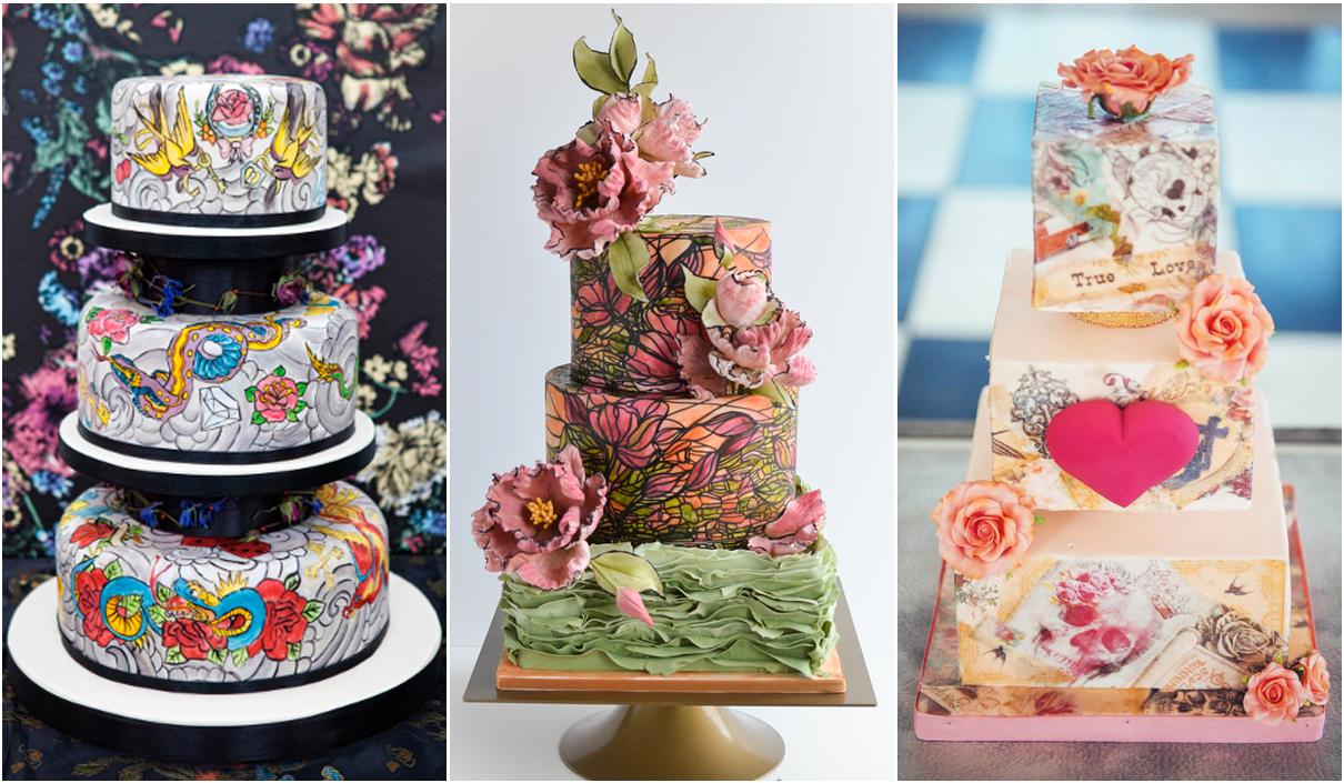 Sulla torta hand-painted puoi realizzare tutto ciò che desideri