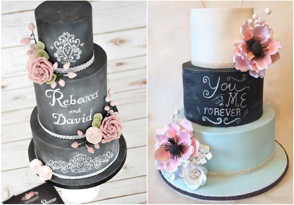La torta nuziale chalkboard