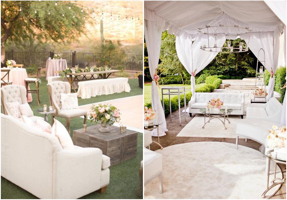 Una lounge area all'aperto per godere della natura